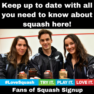 Fans of Squash - SNZ Website Side Banner Signup