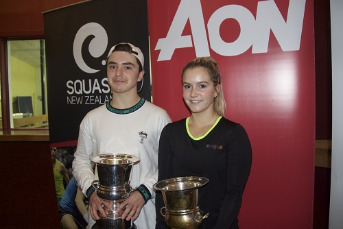 Resized Jamie Oakley and Abbie Palmer - AON New Zealand Junior Open Winners 2016