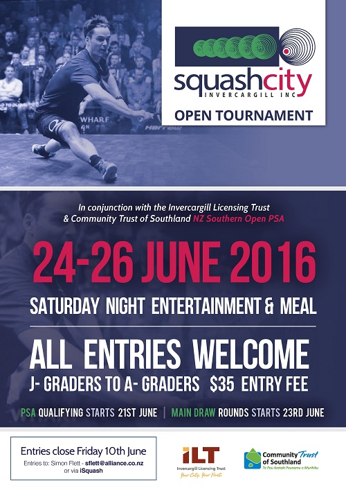Resized Squash City - A4 Poster - Squash City Open